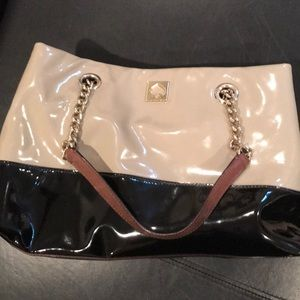 Kate Spade patent leather Black and Tan purse